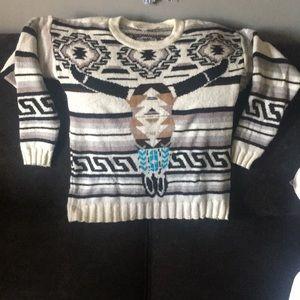 Jen's Pirate Booty Sweaters - Jen's pirate booty sitting bull/ cow skull sweater